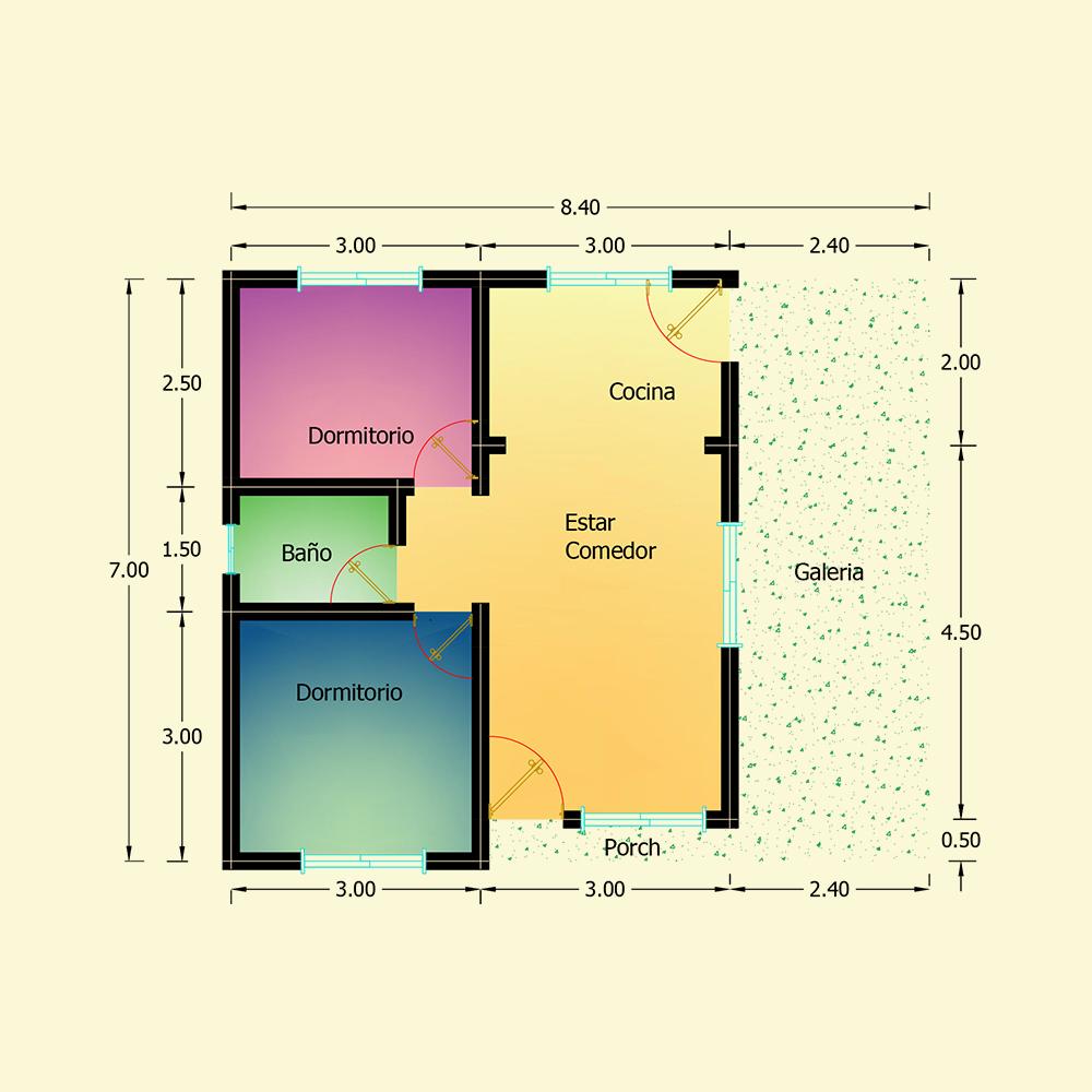 58.80 mts² (Plano N° 30)