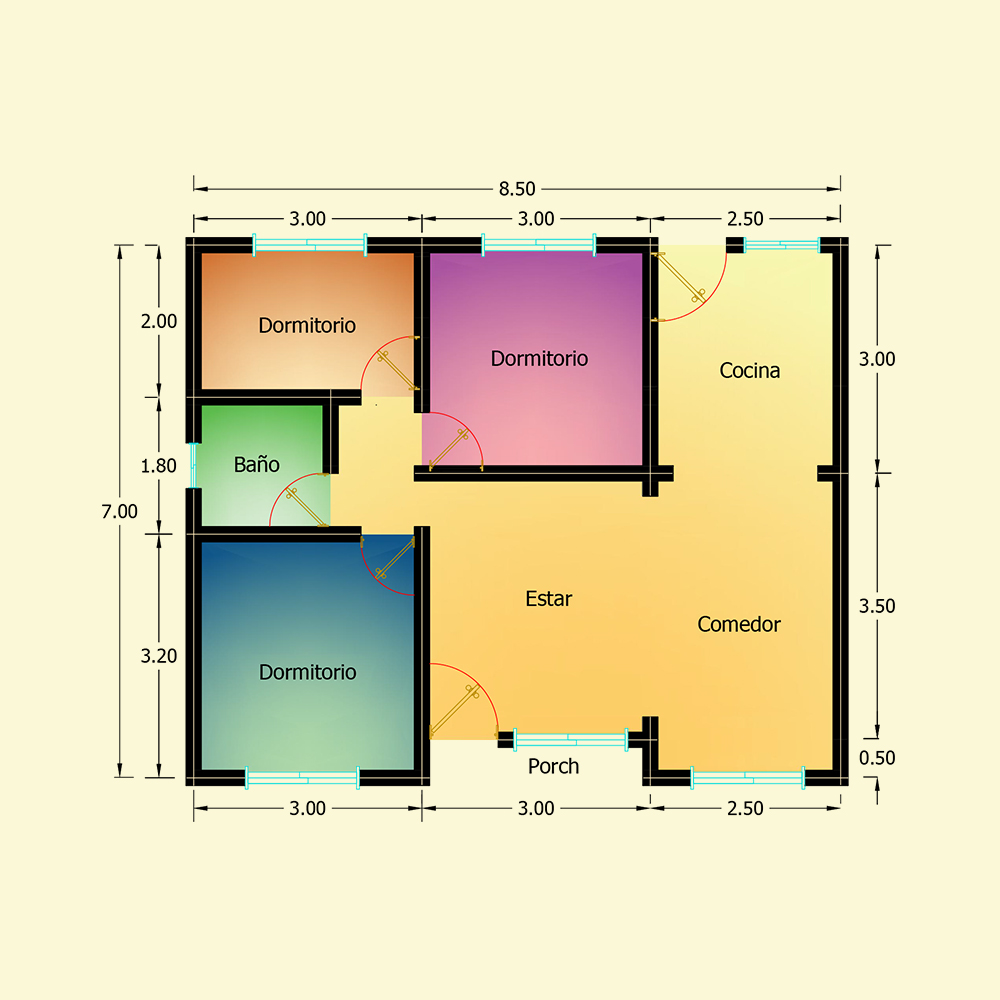59.50 mts² (Plano N° 20)